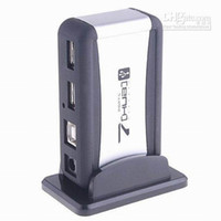Wholesale USB Port HUB combo Powered Splitter AC Adapter Cable High Speed US UK AU EU Plug Mps
