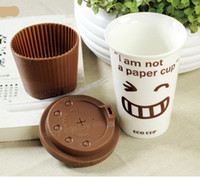 Wholesale Eco Cup I am Not a Paper Cup Ceramic Mug Coffee Cup Gift Craft