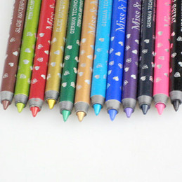 Wholesale 12pcs Colors Eyeliner Pencil Waterproof Eye Line Pencil Emerald Cosmetics Pencil Mp1101