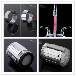 Wholesale faucet lamp light LED water tap temp sensitive bathroom decorating red green blue color changing