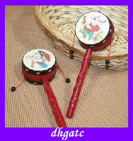Wholesale popular china Classic rattles baby toys hand shaking drum pull rattle auspicious