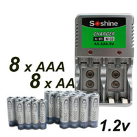 Wholesale 8 AA AAA v Ni MH Rechargeable Battery Charger