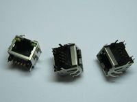 side socket - 60 RJ45 Modular Network PCB Jack P with LED Lamp Side entry