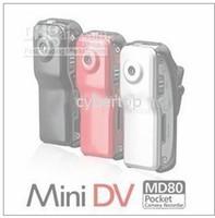 al por mayor los precios de cámaras espía-Precio de descuento cámara MD80 30FPS 720x480 espía mini DV DVR Deportes cámara de vídeo Negro ROJO PLATA A través de DHL
