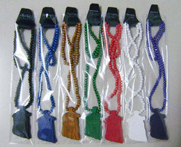 Multicolor Promotion Goodwood Necklace HIP HOP Rosary Beads JESUS Pendants Good Wood Necklace Factory Price Free Shipping