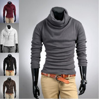 Wholesale 1PCS Mens SLIM FIT BASE Turtle Neck Plain H434 Color Size sweaters sweater