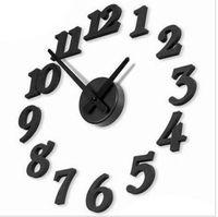 Wholesale New DIY Modern Time Design Wall clock decor Room black
