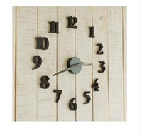 Wholesale New DIY Modern Time Design Wall clock decor Room black pc