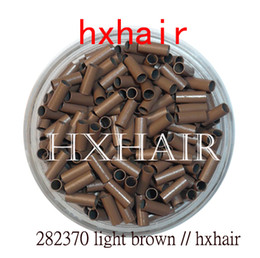 10000pcs 2.8mm Copper Tube Micro Rings   Links Beads   Black D-Brown Brown L-Brown Blonde