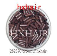 Wholesale 5000pcs mm Copper Tube Micro Rings Links Beads Black D Brown Brown L Brown Blonde
