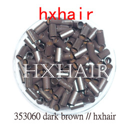2000pcs 3.5mm Copper Tube Micro Rings   Links Beads   Black D-Brown Brown L-Brown Blonde
