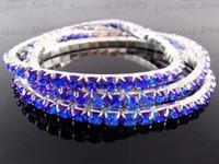 Wholesale Fashion Multicolor Fully Jewelled Bracelets Single Row Crystal Bracelets