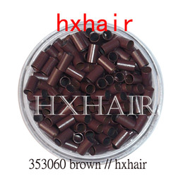 5000pcs 3.5mm Copper Tube Micro Rings   Links Beads   Black D-Brown Brown L-Brown Blonde