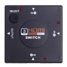 Wholesale New Mini Port P HDMI Switch Splitter Switch Switcher for HD TV DVD C1184