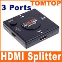 Wholesale Mini Port P HDMI Switch Splitter Switch Switcher for HD TV DVD C1184