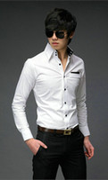Wholesale 2012 New Mens Shirts Mens Casual Shirts Slim Fit Stylish Mens Dress Shirts Long Sleeve Shirts