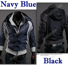 Wholesale New Men s Slim Fit Sexy Hoodies Coats Jackets Double Zipper Colors Size