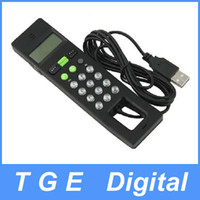 Wholesale USB LCD Internet VoIP Skype Phone PC Handset Telephone Black