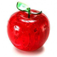 Wholesale Apple Shaped Style D Crystal Block Puzzles Toy Color Mixed Order toy2011