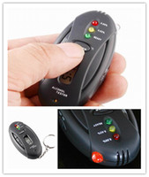 Wholesale 50 traffic usage alcohol tester LCD portable flashlight function key chain style breathalyzer