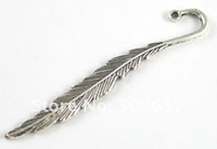 Wholesale 30PCS Tibetan silver slender leaf bookmark A15673