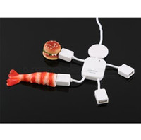 Wholesale Mini Hi speed Cute little humanoid USB point line device yituo four hubs nterface New
