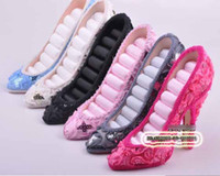 Wholesale Jewelry Display High heel Shoe Ring pink blue black white Jewelry Display Holder Stand Rack