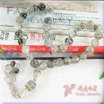 Wholesale Black Rutilated Quartz Crystal Islamic Muslim Prayer Beads Tasbih YT52