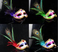 Other April Fool's Day masks free shipping Party mask, mask Venice, pheasant feather, feather mask, peacock hair masks, jewelry