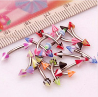 Wholesale g Spike UV Eyebrow Tragus Bars Rings Body Piercing Jewelry Curved Nose Rings BJ