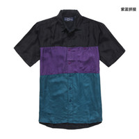 Casual Men Silk Single European fashion boutique 2012 Mens New Silk fabrics shirt - size