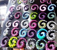 Wholesale Mix Multicolored Ear Expander Hot sale earring ear piercin Body Piercing Jewelry BJ