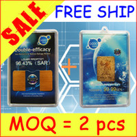 Wholesale ON SALE MOQ K Gold Plated Anti radiation Double Efficacy Two Functions Cellphone Sticker