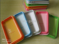 For Apple iPhone   Hard silicone Bumper case Cover for iphone 4 4s Frame With Metal Button Retail pack 400pcs
