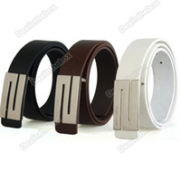 Wholesale 2010 Fashion Stylish Faux Leather Premium S Shape Metal Buckle Belt