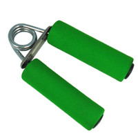 Wholesale 5pcs Hand Grip Exercise Gripper Wrist Strength Fitness Train Device Green Sponge Handle Orange green