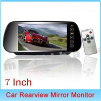 Wholesale 7 Remote Control LCD Widescreen Car Rearview Mirror Monitor with Touch Button