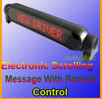 Wholesale Car Sign Light Display red color V LED Message Digital Moving Scrolling With Remote Control