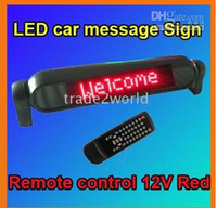 move free - New Car Sign Light Display red color V LED Message Digital Moving Scrolling With Remote Control