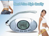 Wholesale 2 in Pedometer Fat Calorie Meter Analyzer calculator Step Counter Clock Monitor Alarm LCD Display