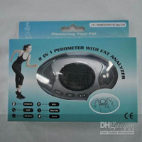Wholesale LCD Display Pedometer Fat Analyzer Calorie Monitor Step Counter Meter calculator in Electronic