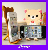 Wholesale popular kids gift Rilakkuma iPhone HTC cat cell phone seat Bending toys
