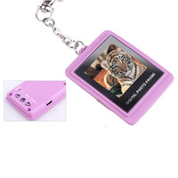 Wholesale 1 quot Digital Photo Frame Picture Album Keychain SILVER