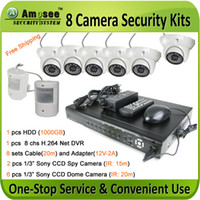 Wholesale camera security DVR kit Indoor Dome amp Spy camera Mobile Network Home surveillance