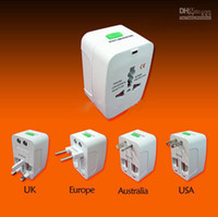 Wholesale new Travel Universal International Adapter All in One AC Power Plug AU UK USA EURO