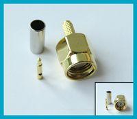 SMA male Connector crimp straight for RG174 RG179 RG316 RG18...