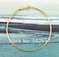Wholesale 50 Gold plate earring hoop mm