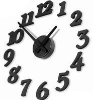 Wholesale Hot selling Black New DIY modern time Design Wall Clock Decor room Novelty House Decor