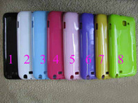 Wholesale TPU Soft Silicone Jelly Case for Samsung Note I9220 N7000 Pure Color Back Cover