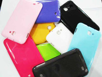 Wholesale TPU Soft Silicone Case for Samsung Note I9220 N7000 Pure Color Skin Back Cover Protector
